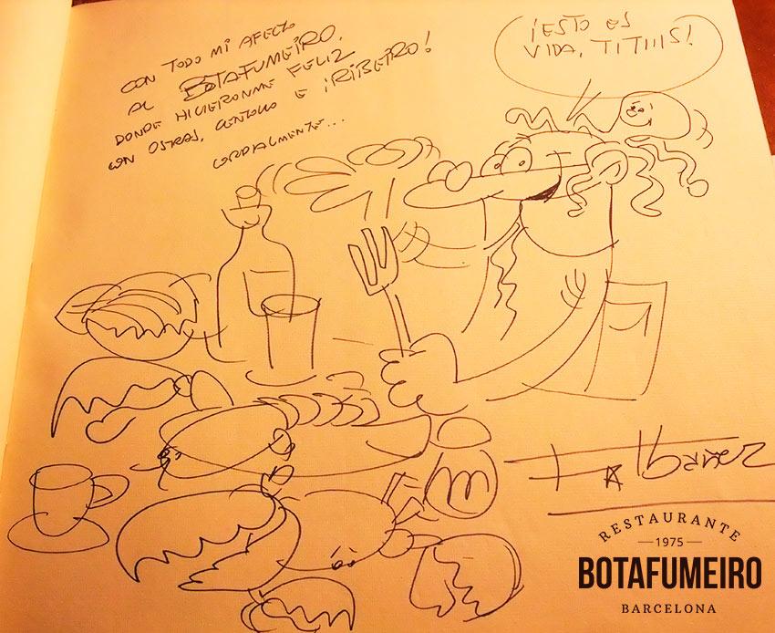 Libro de visitas Botafumeiro · Francisco Ibáñez